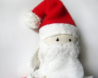 Santa Claus Doll - Toy Christmas figure doll santa  red santa doll christmas gift fabric toy