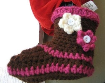 Crochet  Booties pattern ( pdf pattern), Boots for Girls