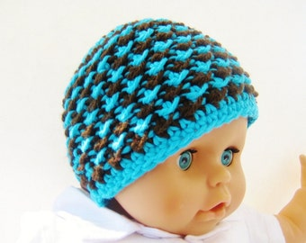 Crochet Baby Hat Pattern - Crochet Baby Boy Pattern -  Crochet Beanie Pattern -  Newborn to Adult Sizes - Starry Night Beanie