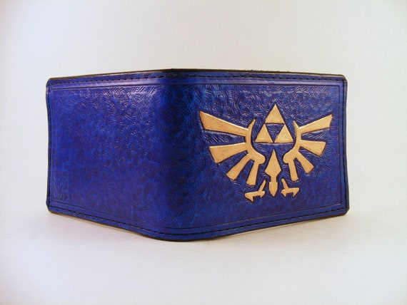 Zelda Hyrule Crest Hand-Tooled Leather Wallet
