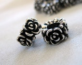 10 Antiqued Silver Flower Spacer Beads, Zinc Alloy, 6mm hole,10mm diameter x 7mm thick band,  package of  10