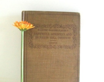 Antique Eclectic English Classic Book