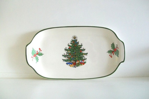 Vintage Cuthbertson English Christmas Tree Platter