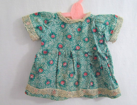 Doll Dress Antique Handmade with Heirloom Lace