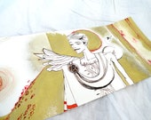 Original The golden age, Gold Red and Sepia ink Illustration Drawing by juliacalimera