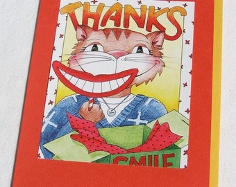THANKS  for the SMILE CAT greeting card
