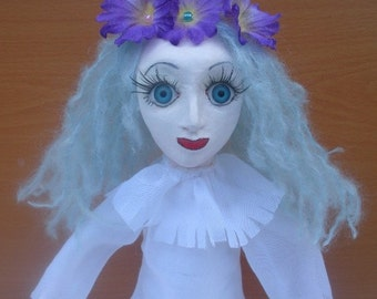 Ghost Doll   OOAK art doll  Mavka, GOTH, Halloween