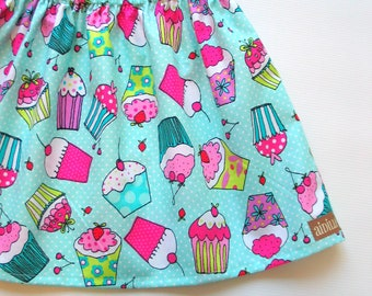 Girls Cupcake Skirt Twirl 18m 2t 3t 4t 5 6 7 8 Kids Skirt, Girls Skirt, Toddler Skirt, Birthday Skirt