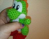 Crochet Mini green dino