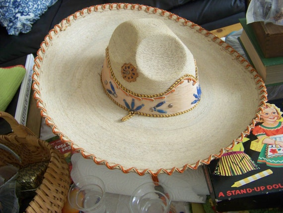 Vintage Antique Mexican Sombrero Hat Straw By Walkingwithjulann
