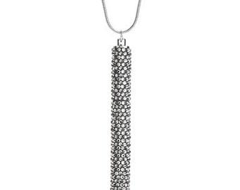 Petite Crystallized Necklace Pen Fully Embellished With Black Diamond Swarovski Crystals
