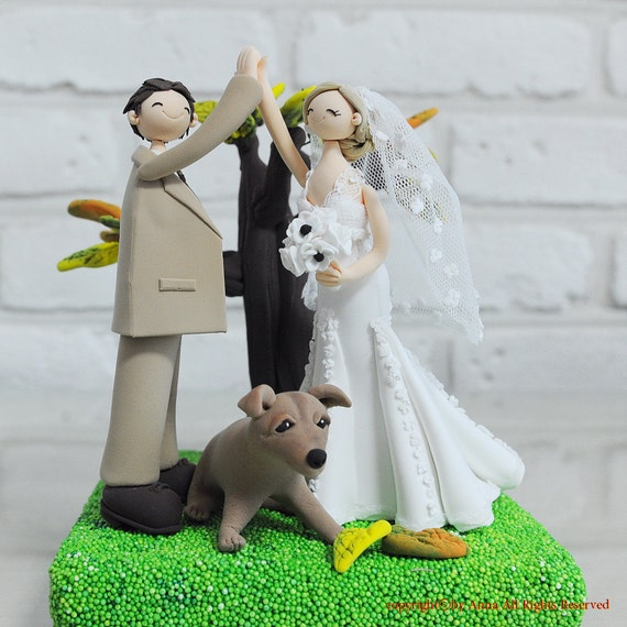 hunting themed wedding cake toppers items similar to hi five outdoor theme custom wedding cake 16212