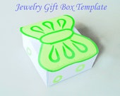 Template - Printable Jewelry Gift Box With Bow in 4 colors