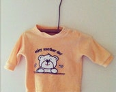 "vintage ""enjoy another day"" smiling bear baby sweater shirt"