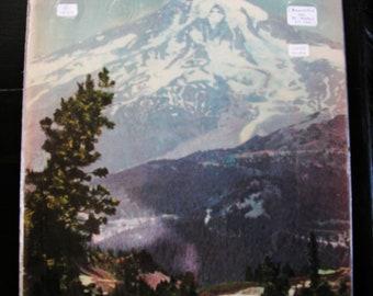 Antique Vintage  1939 Washington State Travel Guide