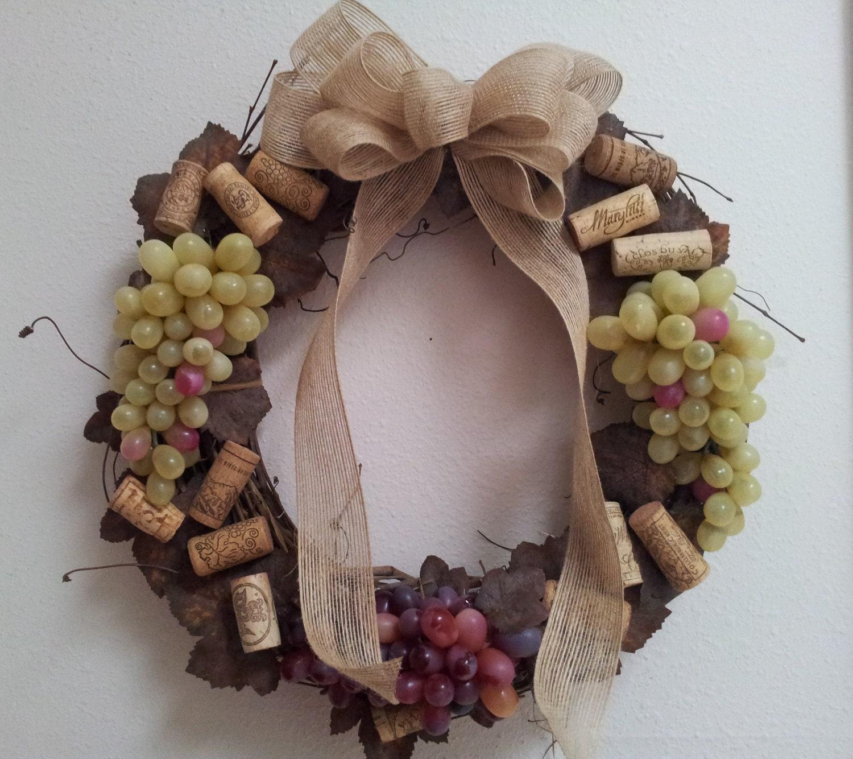 Cork Wreath: Wine Cork Grapevine Wreath