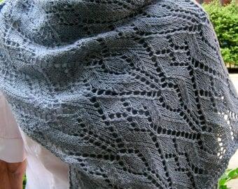 Knit Wrap Pattern:  Ivy Lace Shawl Knitting Pattern