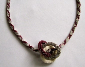 Bead Crochet Necklace Pattern:  Infinity Rings Bead Crocheted Necklace Pattern