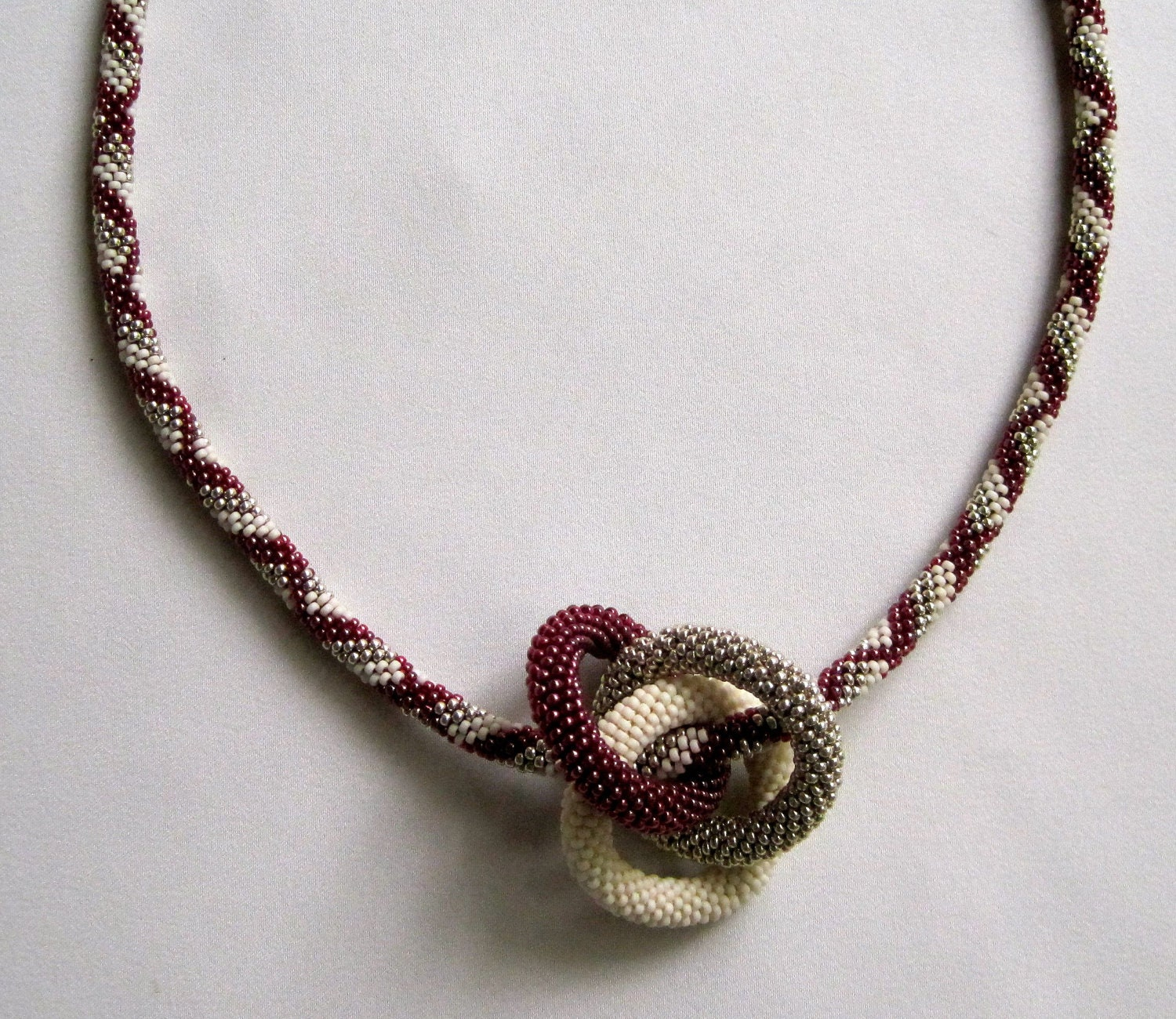 Bead Crochet Necklace Pattern: Infinity by WearableArtEmporium