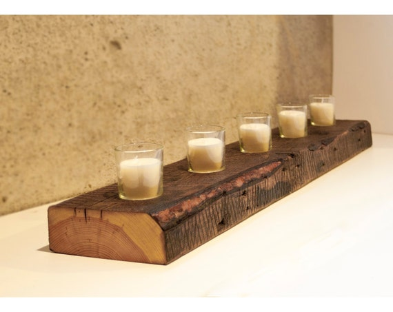 Like this item? - FREE SHIPPING Reclaimed Wood Votive Candle Holder