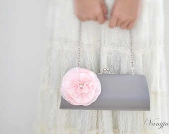 CUSTOM CLUTCH - Bridal Clutch - Bridesmaid Clutch - Wedding clutch - Large clutch- You choose the color