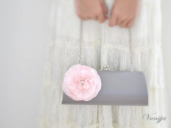 CUSTOM CLUTCH - Bridal Clutch - Bridesmaid Clutch - Wedding clutch - Large clutch- You choose the color