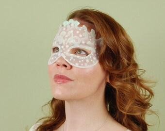 SHEER MASK- Snowflake- Halloween, Fairy, Mardi Gras,Venetian, masquerade mask
