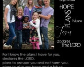 """Photo Printed on Canvas with your personalized text and Photo 15"""" x 15"""""""