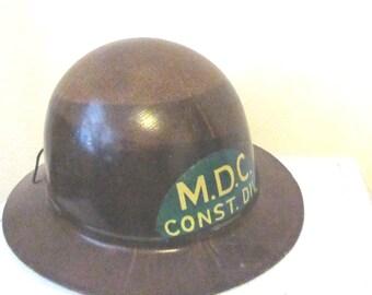 Antique Fiberglass Hardhat / Antique Contruction or Miner Helmet