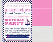 Nautical Party Printable Invitation - anna and blue paperie
