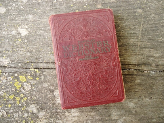 Antique 1929 Dictionary - Webster's Dictionary