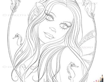 Tranquility - Printable Digital Download Coloring Page