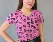 Cute Cat T Shirt. XL