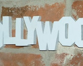 "Wood sign ""Hollywood"""