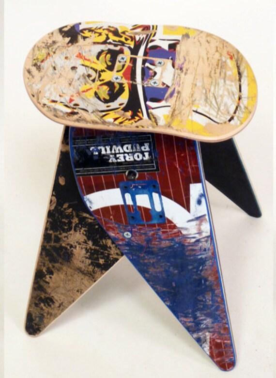 No.305 - Recycled skateboard stool