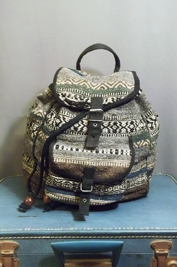 Vintage Thick ETHNIC Tapestry BACKPACK.
