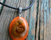 Fiddlehead Spiral Orange-Yellow Necklace SALE!