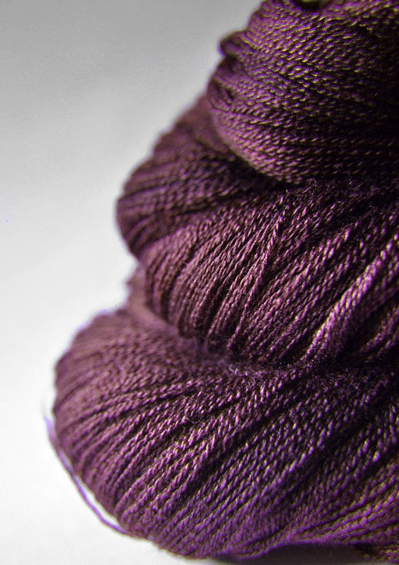 Mashed cherries - Merino/Silk/Cashmere Yarn Fine Lace weight