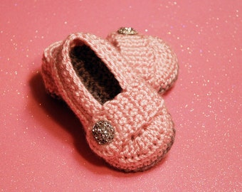 Baby Shoes-Crochet Baby Shoes-Baby Ballet Flats-Newborn to 12 Months