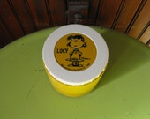 Vintage 1969 Peanuts Lucy Thermos Insulated Jar