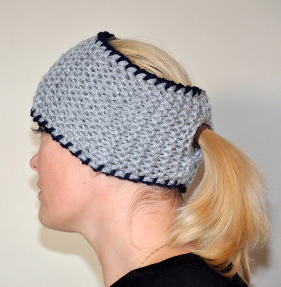 Crochet Hat With Ponytail Hole Pattern Headband Crochet Ponytail Hole