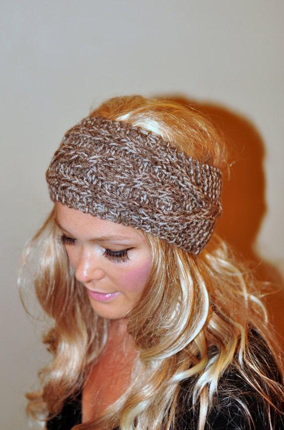 Ear Warmer Crochet Headband Head wrap Earwarmer CHOOSE COLOR Birch Brown Beige Eco Neutral Nature Christmas Gift