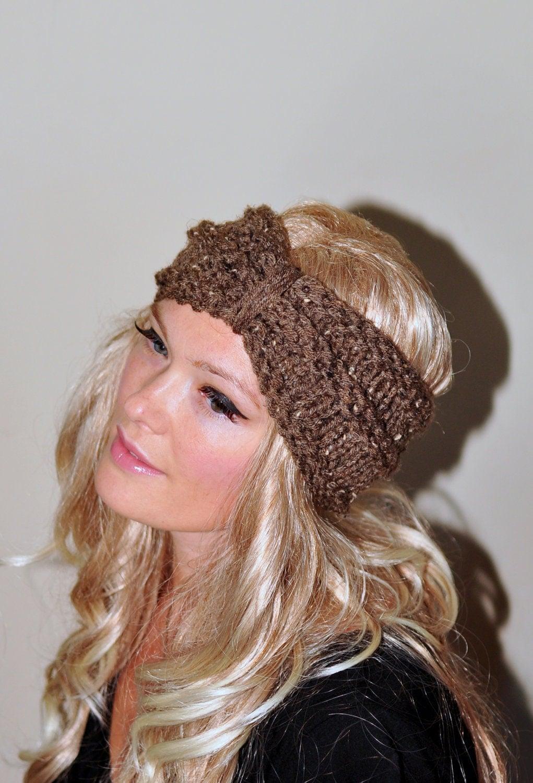 Headband Head Wrap Knitting Pattern : Turban Headband Crochet Head wrap Knit ear warmer Earwarmer