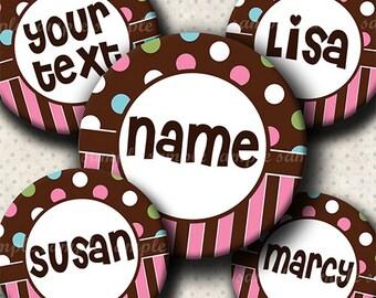 INSTANT DOWNLOAD Editable JPG Funny Polka Dots Pink (517) 4x6 Bottle Cap Images Digital Collage Sheet bottlecaps hair bows bottlecap images