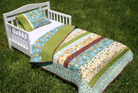 Organic Toddler Bed Set Quilt And Pillow Case Lorax Earth
