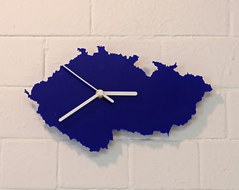 Czech Republic clock (Blue)