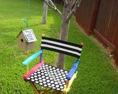 Jez4U Adorable Handpainted NEW Teacher GIFT A Directors Chair and a matching sign