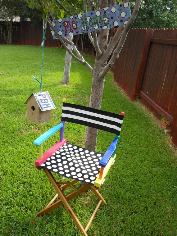 Directors Chair Custom Painted For Classroom Or Library Or