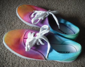 Tie dye kids/womens shoes