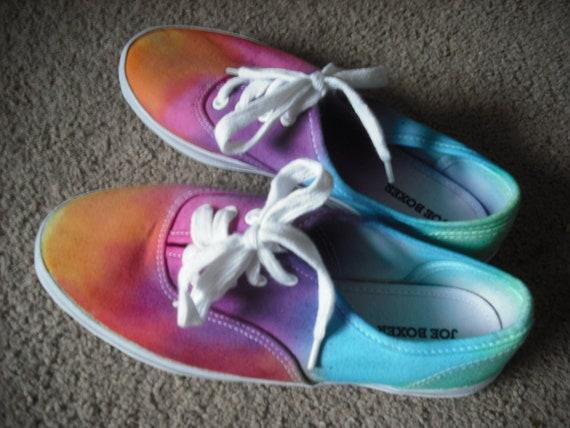 Tie dye kids/womens shoes